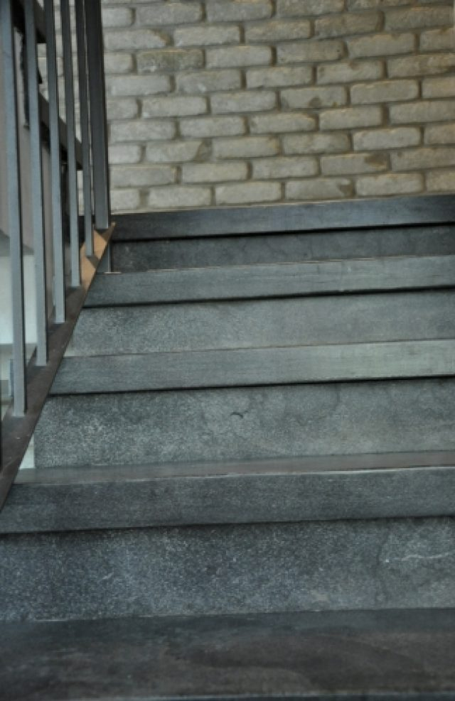 External stone stairs