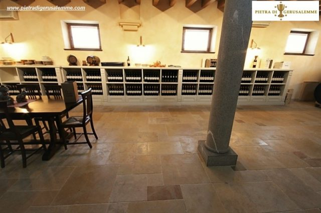 Natural stone for wine cellars