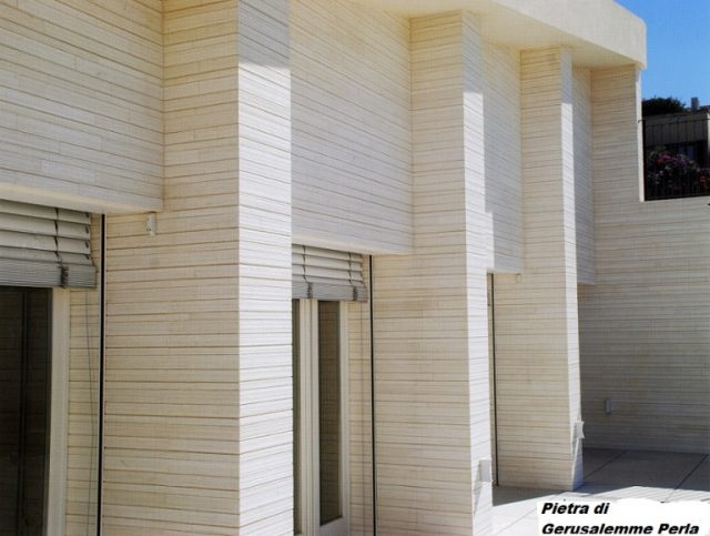 Wall cladding in stone