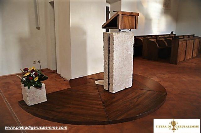 Sede della parola in Pietra di Gerusalemme Gold lavorazione artigianale