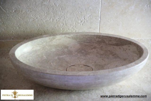 Lavabo ovale in pietra