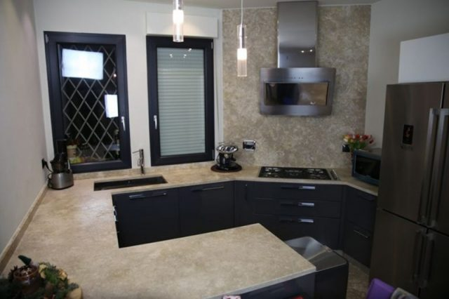 Modern stone kitchen top