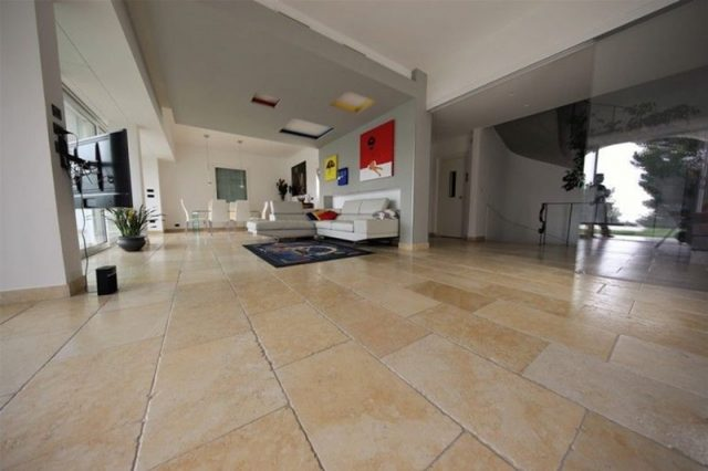 Marble floors