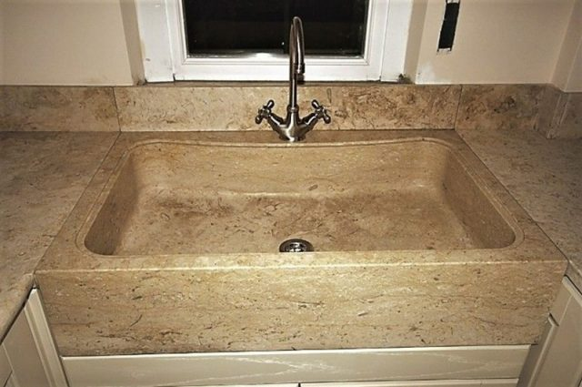 Jerusalem Gold stone kitchen sinks