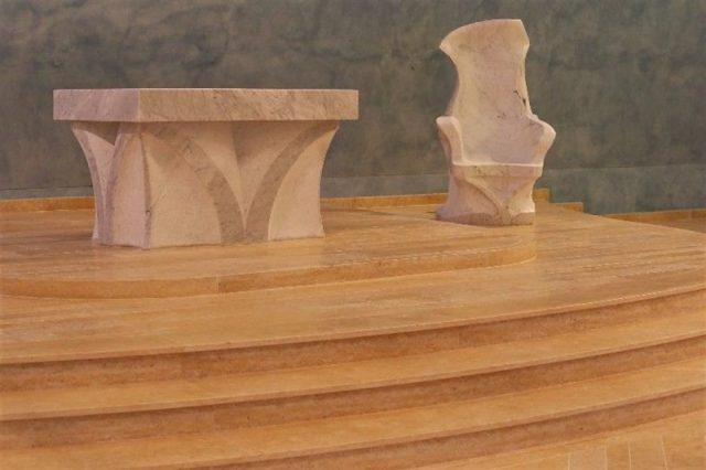 Presbytery stairs in Jerusalem Gold stone