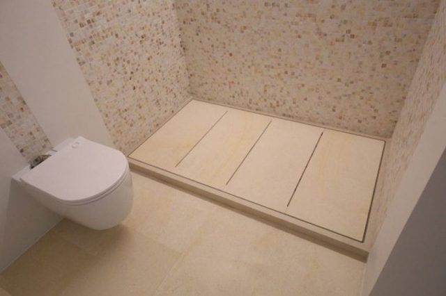 Customized shower tray