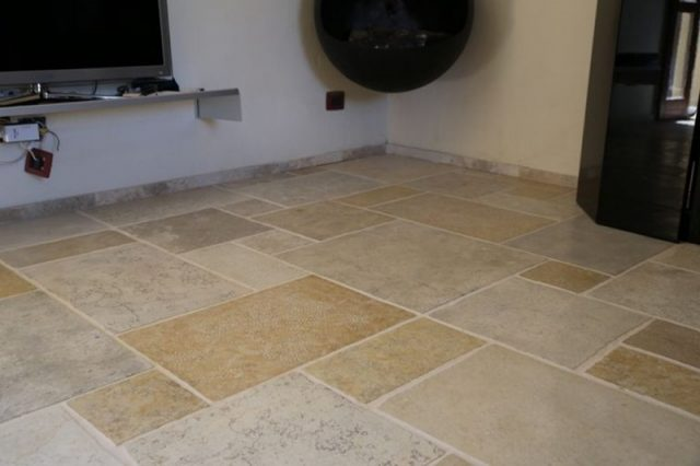 handcrafted stone floors