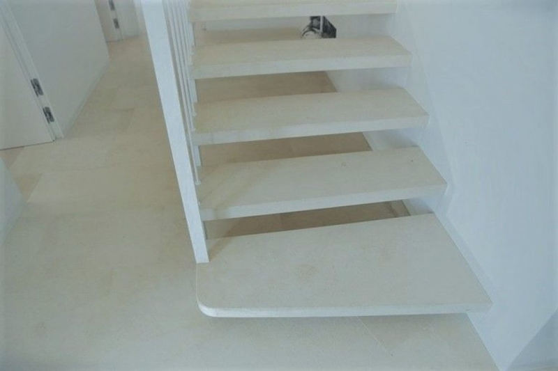 Modern staircase in Jerusalem stone