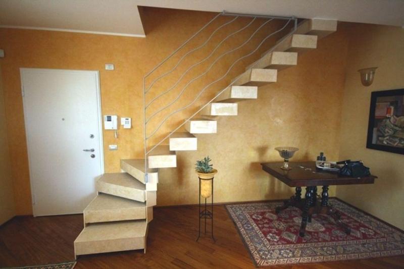 Minimal stone staircase